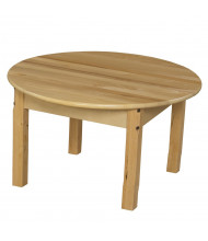 Wood Designs Round Hardwood Elementary School Tables