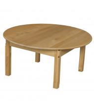 Wood Designs Round Hardwood Elementary School Tables