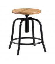 "NPS 6800 Series 19"" - 25"" Adjustable Wood Seat Round Science Lab Stool (Shown in Black)"