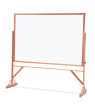 Quartet Duramax 6 x 4 Porcelain Hardwood Frame Reversible Mobile Whiteboard
