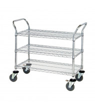 Quantum Storage 3-Shelf Chrome Wire Utility Carts