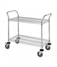 Quantum Storage 2-Shelf Chrome Wire Utility Carts