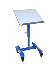 "Vestil WT-2221 150 lb Load 22"" x 21"" Platform Mobile Tilting Work Table"