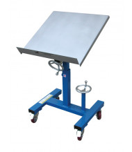 "Vestil WT-2424 300 lb Load 24"" x 24"" Mobile Tilting Work Table"
