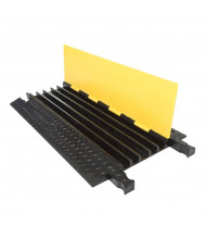 Checkers 5-Channel Yellow Jacket Cable Protector (Standard ramp shown)