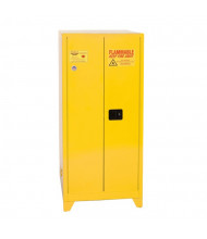 Eagle YPI-62LEGS Manual Two Door Combustibles Tower Safety Cabinet with Legs, 96 Gallons, Yellow