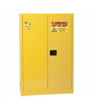 Eagle YPI-47 Manual Two Door Combustibles Safety Cabinet, 60 Gallons, Yellow