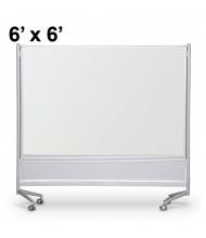 Best-Rite Porcelain Steel 6 x 6 D.O.C. Mobile Divider Reversible