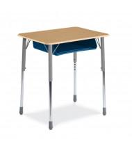 "Virco Zuma 26"" x 20"" Plastic Book Box Student Desk"