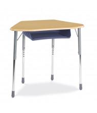 "Virco Zuma 33"" x 21"" Plastic Book Box Trapezoid Student Desk"