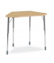 "Virco Zuma 33"" x 21"" Hard Plastic Top Trapezoid Student Desk"