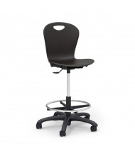 Virco Zuma Lab Stool, Footring (black)