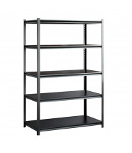 "Sandusky Z-Beam 48"" W Laminate Shelf Open-Back Boltless Shelving Unit (Silver Vein Model Shown)"
