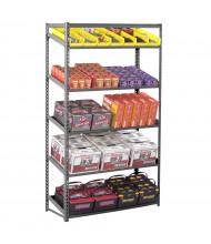 "Tennsco 84"" H Z-Line 6-Shelf Sloping Steel Open-Back Shelving Units"