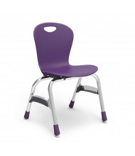 "Virco Zuma 15"" Seat Height 4-Leg Stacking School Chair (purple iris)"