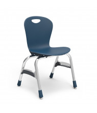 "Virco Zuma 15"" Seat Height 4-Leg Stacking School Chair (navy)"