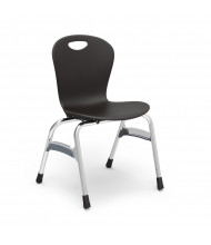 "Virco Zuma 18"" Seat Height 4-Leg Stacking School Chair (Shown in Black)"