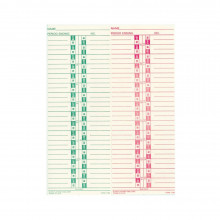 Lathem Semi-Monthly/Monthly Time Cards, Pack of 1000
