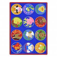 Joy Carpets Creature Calls Rectangle Classroom Rug
