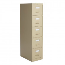 "Global 25-500 5-Drawer 25"" Deep Vertical File Cabinet, Letter (Shown in Desert Putty)"