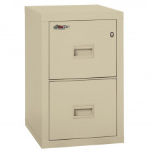 "FireKing Turtle 2-Drawer 22"" Deep 1-Hour Rated Fireproof File Cabinet, Letter & Legal (Shown in Parchment)"