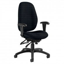 Global Malaga 3140-3 Fabric Multi-Tilter High-Back Office Chair (Shown in Black)
