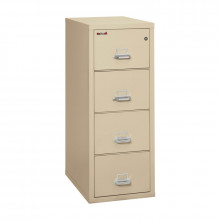 "FireKing 4-Drawer 31"" Deep 1-Hour Rated Fireproof File Cabinet, Legal - Shown in Parchment"