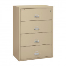 "FireKing 4-Drawer 38"" Wide 1-Hour Rated Lateral Fireproof File Cabinet - Shown in Parchment"