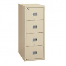"FireKing Patriot 4-Drawer 31"" Deep 1-Hour Rated Fireproof File Cabinet, Legal (Shown in Parchment)"