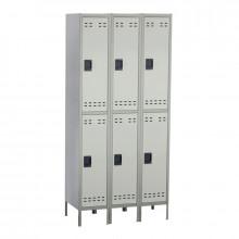 Safco Double Tier 3-Column Steel Locker (Shown in Grey)