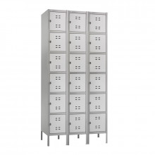 Safco 6-Tier 3-Wide Box Lockers with Legs (Shown in Grey)