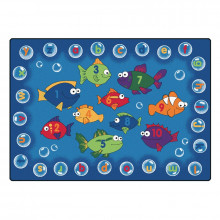 Carpets for Kids Fishing for Literacy Classroom Rug