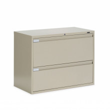 """Global 9336P-2F1H 2-Drawer 36"""" Wide Lateral File Cabinet, Letter & Legal (Shown in Desert Putty)"""