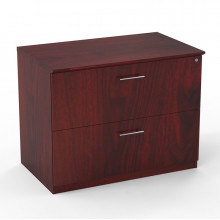"Mayline Medina MVLF 36"" 2-Drawer Lateral File (Shown in Mahogany)"