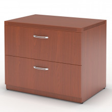 "Mayline Aberdeen AFLF36 36"" 2-Drawer Lateral File (Shown in Cherry)"