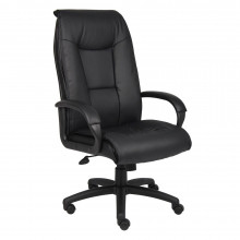 Boss LeatherPlus High-Back Executive Office Chair