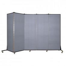 ScreenFlex 6 ft 5 in H x 9 ft 5 in 5-Panel Light Duty Room Divider BFSL685 (Shown in Blue Mist)