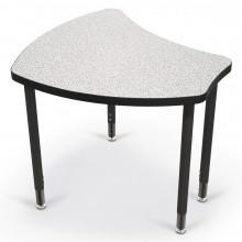 Balt Shapes Height Adjustable Student Desk, Grey Nebula