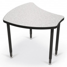 "Balt Shapes 29"" W x 27"" D Height Adjustable Student Desk (Shown in Grey Nebula)"