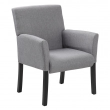 Boss B659-MG Fabric Wood Mid-Back Guest Chair