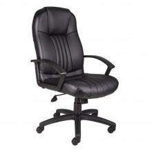 Boss B7641 LeatherPlus High-Back Executive Office Chair