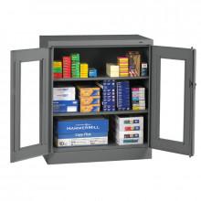 "Tennsco Standard C-Thru 42"" Counter Height Cabinets (Shown in Medium Grey)"