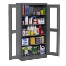 Tennsco Standard C-Thru Storage Cabinets (Shown in Medium Grey)