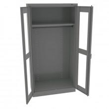 Tennsco Standard C-Thru Wardrobe Cabinets (Medium Grey)