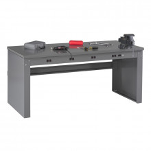 Tennsco Solid Steel Electronic Workbenches with Panel Legs (Model without Riser Shown)