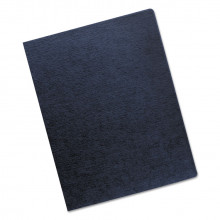 "Fellowes 7.5 Mil 8.75"" x 11.25"" Round Corner Navy Binding Cover, 200/Pack"