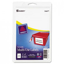 """Avery 4"""" x 2"""" Removable Multi-Use Labels, White, 100/Pack"""