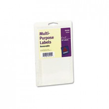 """Avery 5"""" x 3"""" Removable Multi-Use Labels, White, 40/Pack"""