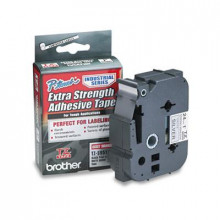 "Brother P-Touch TZES951 TZe Series 1"" x 26.2 ft. Labeling Tape, Black on Matte Silver"