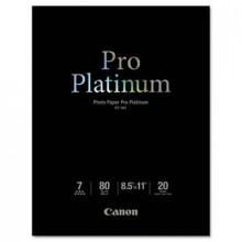 "Canon Pro Platinum 8-1/2"" X 11"", 80lb, 20-Sheets, High-Gloss Photo Paper"